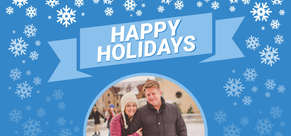 Blue Happy Holidays Template for AirDeck