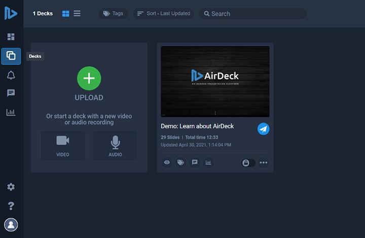AirDeck Upload Slide Feature