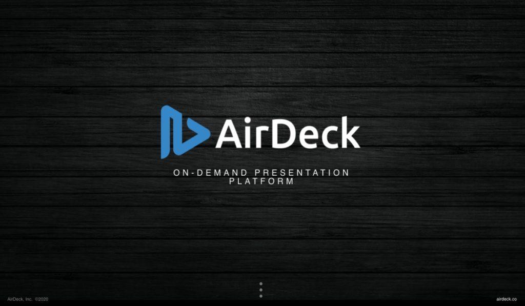 AirDeck Homescreen