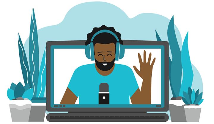 Screen Recording Software Illustration