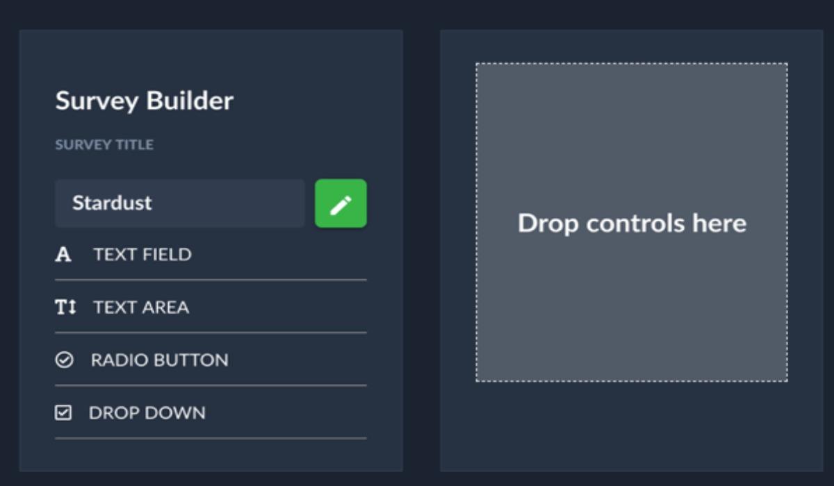 AirDeck Survey Builder user interface