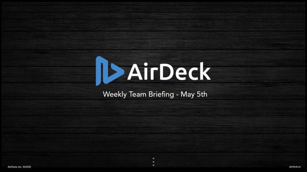 AirDeck Weekly Briefing Video Overlay