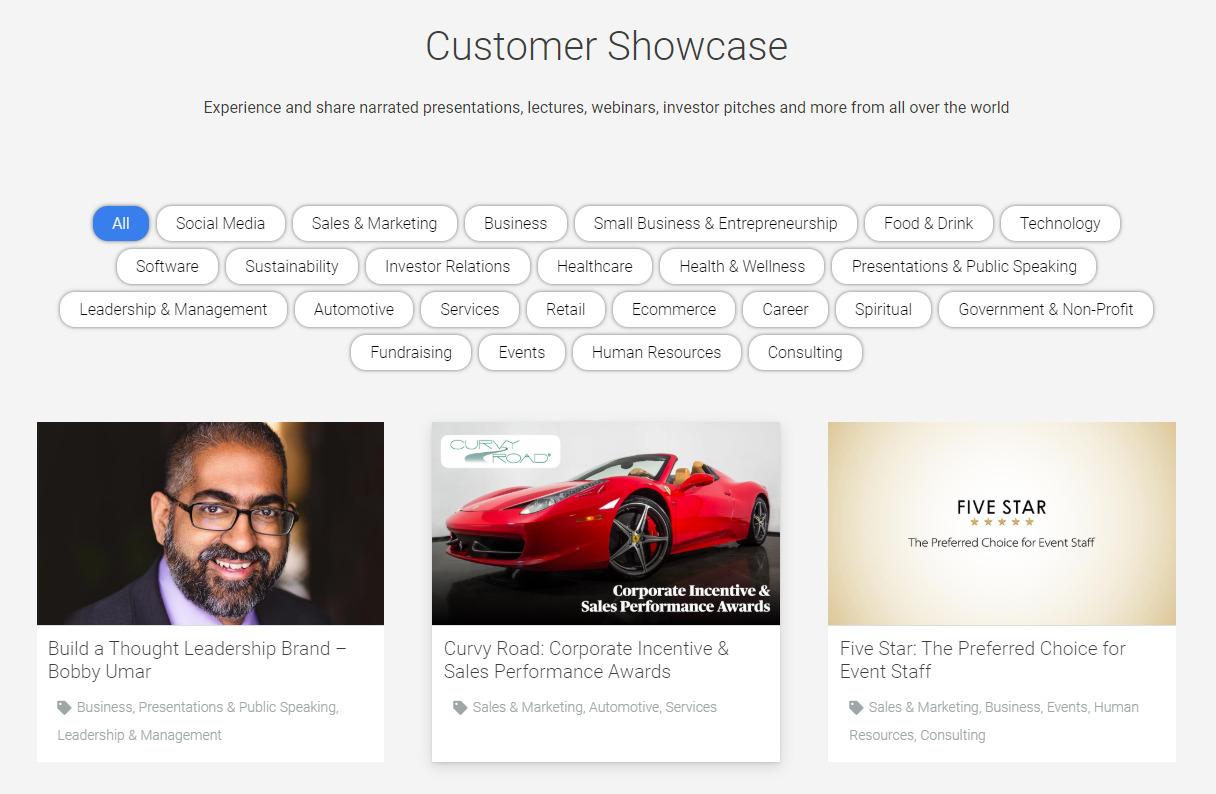 AirDeck Customer Showcase Webpage
