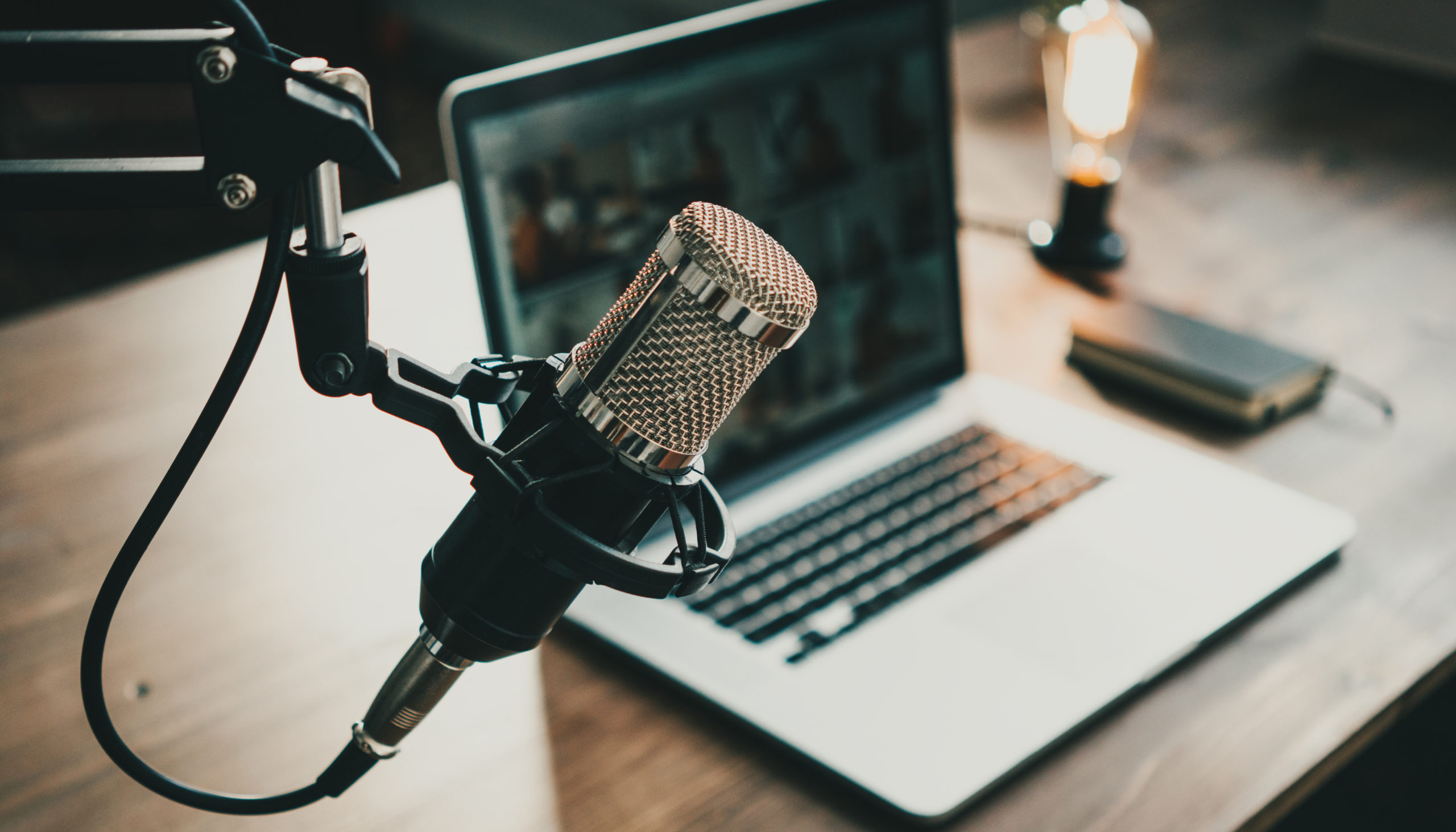 Microphone and MacBook computer